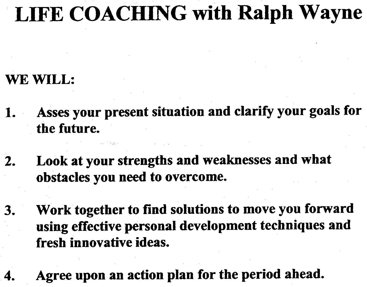 life coaching ralph wayne s tarot and life coaching after each consultation you will receive a follow up phone call you will also have e mail access throughout your course of coaching